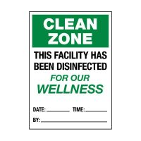This Facility Has Been Disinfected Label