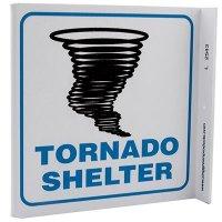 Tornado Shelter L-Style Sign