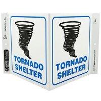 Tornado Shelter V-Style Sign
