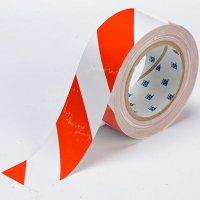 """Red/White Stripe 4"""" ToughStripe™ Floor Marking Tape"""