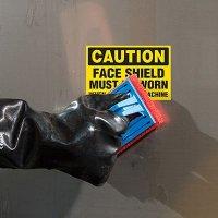 ToughWash® Labels - Caution Face Shield Must Be Worn