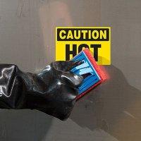 ToughWash® Labels - Caution Hot