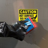 ToughWash® Labels - Caution Hot Surface