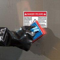 Bilingual ToughWash® Labels - Arc Flash And Shock Hazard