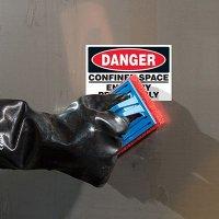 ToughWash® Labels - Danger Confined Space