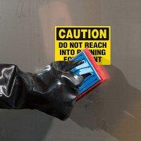 ToughWash® Labels - Caution Do Not Reach
