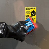 Bilingual ToughWash® Labels - Ear Protection Required