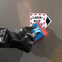 ToughWash® Arrow Labels - Lock-Out Point