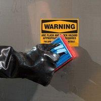 ToughWash® Labels - Warning Arc Flash And Shock Hazard