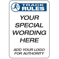 Track Rules  - Custom School Safety Signs