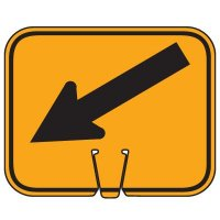 Plastic Traffic Cone Signs- Arrows Lower Left