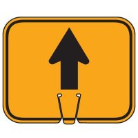 Plastic Traffic Cone Signs- Arrow Up