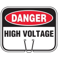 Plastic Traffic Cone Signs- Danger High Voltage