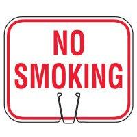 Plastic Traffic Cone Signs- No Smoking