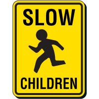 Slow Children Traffic Signs