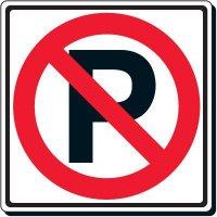 No Parking Symbol Sign