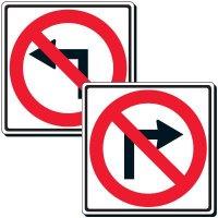 No Turn Symbol Sign