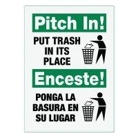Bilingual Pitch In! Sign