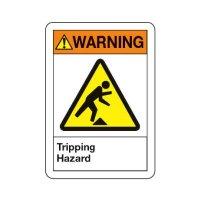 Tripping Hazard - ANSI Warning Sign