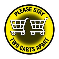 Floor Safety Signs - Please Stay Two Carts Apart