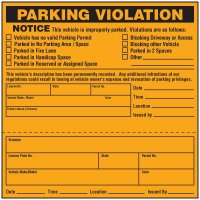 Parking Violation Warning Labels