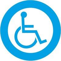 Handicap Two-Sided Door Label