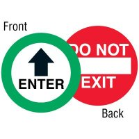 Enter Two-Sided Door Label