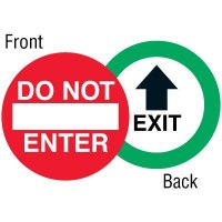 Exit Two-Sided Door Label