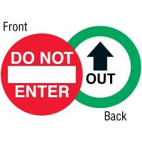 Out Two-Sided Door Label