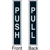 Push Pull Front Adhesive Two-Sided Door Label