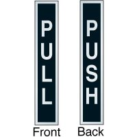 Push Pull Adhesive Back Two-Sided Door Label