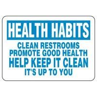 Keep Restroom Clean Sign