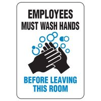 Wash Hands Before Leaving Restroom Sign