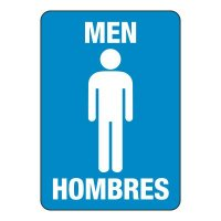 Bilingual Men's Restroom Sign