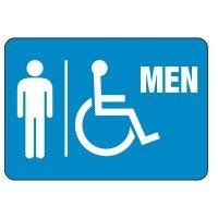 Men's Handicapped Restroom Sign