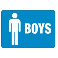 Boy's Restroom Sign
