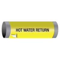 Hot Water Return - Ultra-Mark® Self-Adhesive High Performance Pipe Markers
