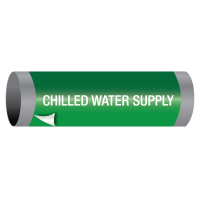 Chilled Water Supply - Ultra-Mark® Self-Adhesive High Performance Pipe Markers