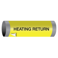 Heating Return - Ultra-Mark® Self-Adhesive High Performance Pipe Markers
