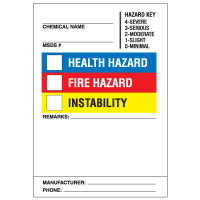 Ultra Stick HazCom Labels with NFPA Color Bar