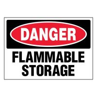 Super-Stik Signs - Danger Flammable Storage