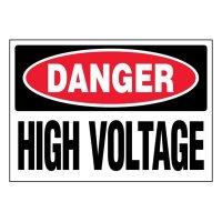 Super-Stik Signs - Danger High Voltage