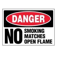 Super-Stik Signs - Danger No Smoking Matches Open Flames