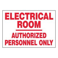 Super-Stik Signs - Electrical Room Authorized Personnel Only