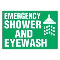 Super-Stik Signs - Emergency Shower And Eyewash