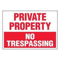 Super-Stik Signs - Private Property No Trespassing