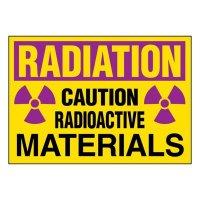Super-Stik Signs - Radiation Caution Radioactive Materials