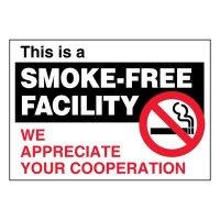 Super-Stik Signs - Smoke-Free Facility