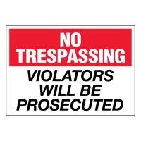 Super-Stik Signs - No Trespassing Violators