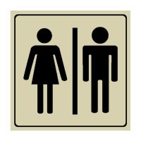Unisex Restroom Symbol - Engraved Graphic Symbol Signs